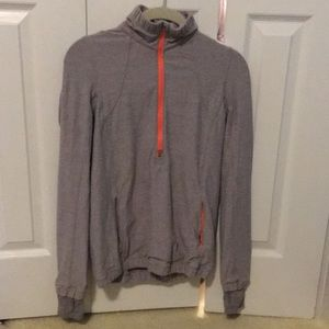 lululemon athletica Jackets & Coats - Lululemon grey & pink zip up jacket sz 6 57588